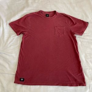 Vans XL men's red t shirt